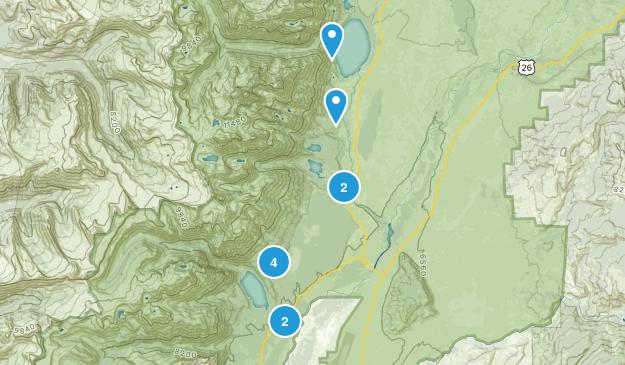 Beaver Creek, Wyoming Lake Map