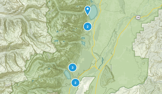 Beaver Creek, Wyoming Walking Map