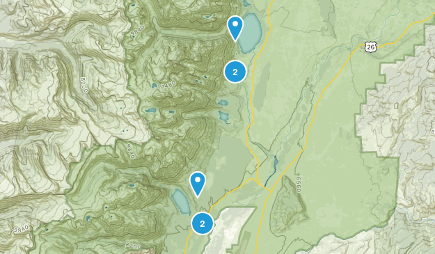 Beaver Creek, Wyoming Wild Flowers Map
