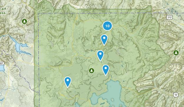 Canyon Village, Wyoming Birding Map