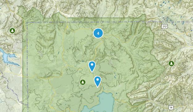 Canyon Village, Wyoming Views Map