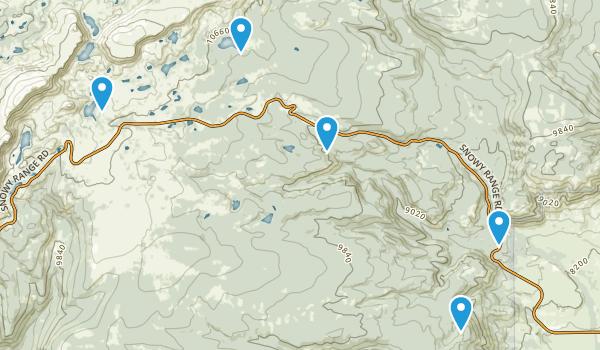 Centennial, Wyoming Trail Running Map