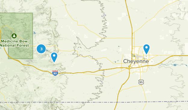 Cheyenne, Wyoming Mountain Biking Map