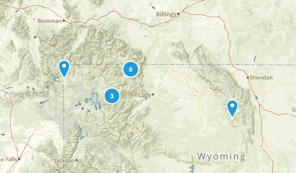 Cody, Wyoming Birding Map
