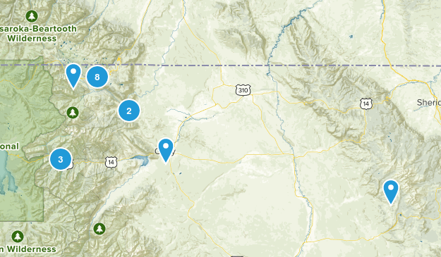 Cody, Wyoming Dogs On Leash Map
