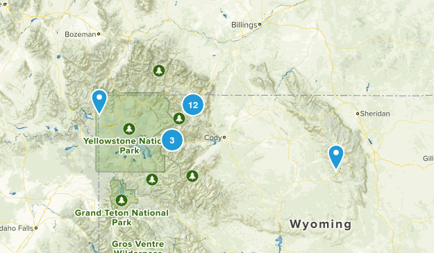 Cody, Wyoming Hiking Map