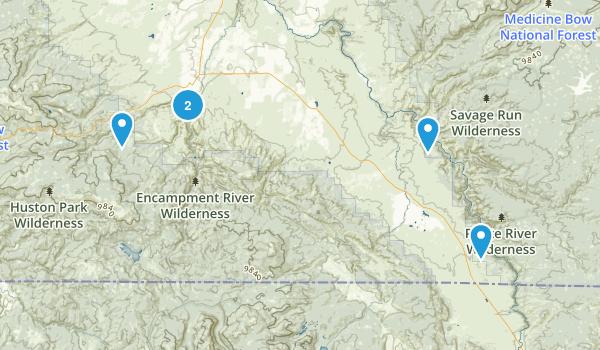 Encampment, Wyoming Hiking Map
