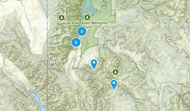 Jackson, Wyoming Lake Map