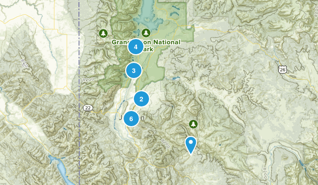 Jackson, Wyoming Nature Trips Map