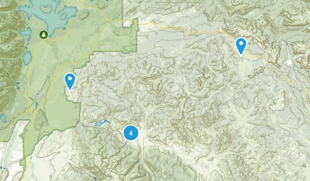 Kelly, Wyoming Hiking Map