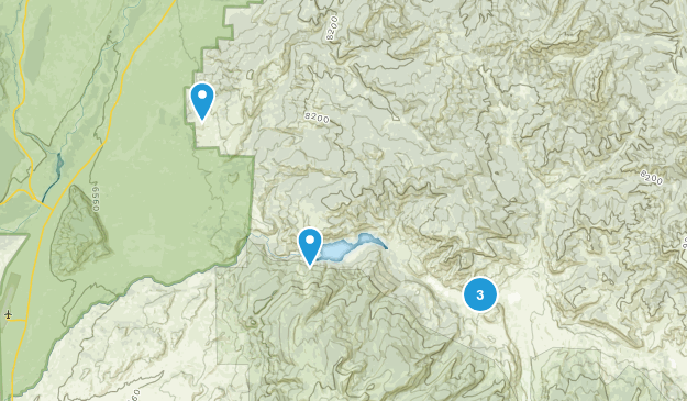 Kelly, Wyoming Nature Trips Map