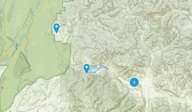 Kelly, Wyoming Walking Map