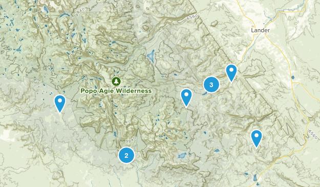 Lander, Wyoming Hiking Map