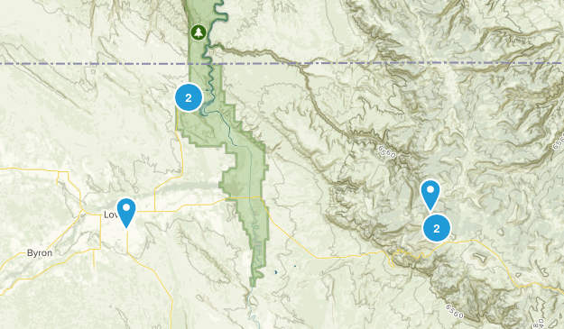Lovell, Wyoming Dogs On Leash Map