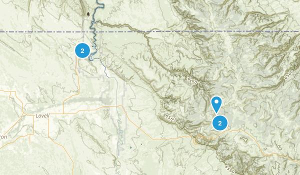 Lovell, Wyoming Hiking Map