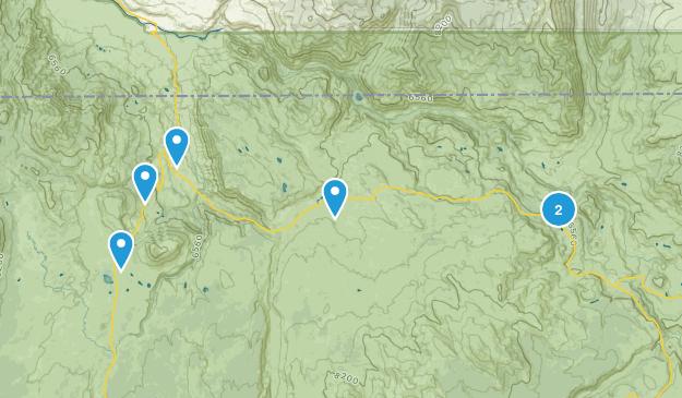 Mammoth, Wyoming Fishing Map