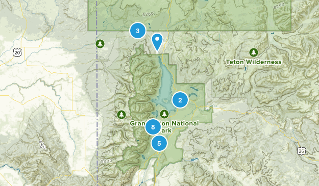 Moose, Wyoming Birding Map