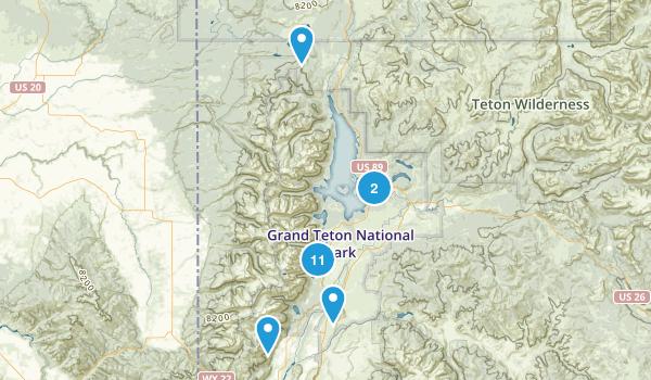 Moose, Wyoming Lake Map