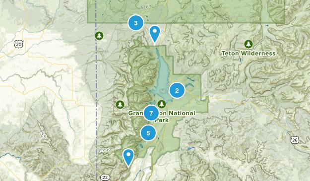 Moose, Wyoming Wild Flowers Map
