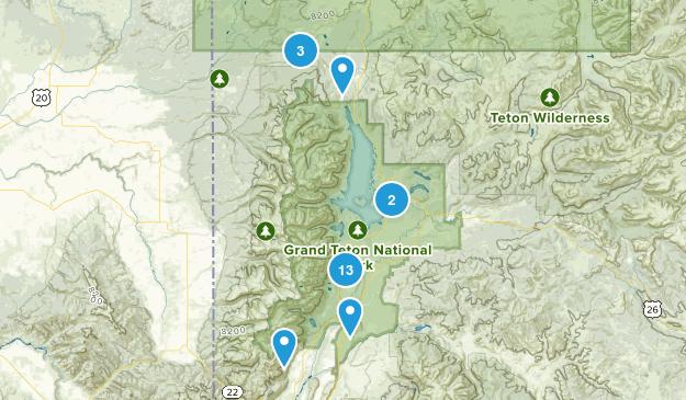 Moose, Wyoming Wildlife Map