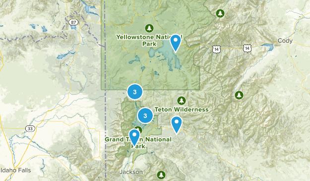 Moran, Wyoming Backpacking Map