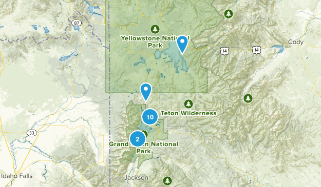 Moran, Wyoming Lake Map