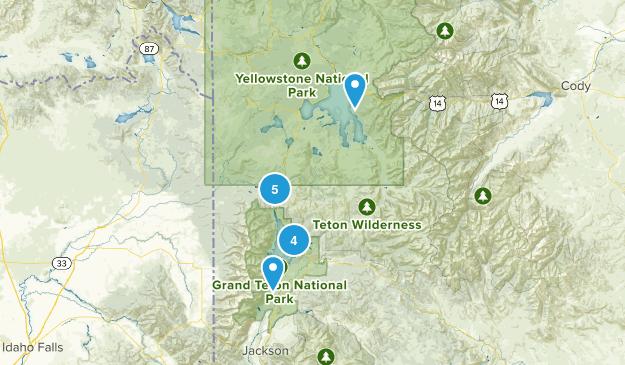 Moran, Wyoming River Map