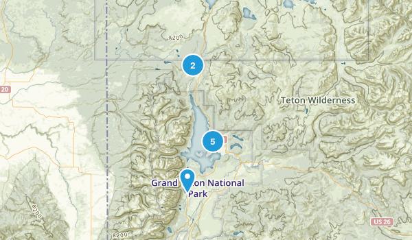 Moran, Wyoming Trail Running Map