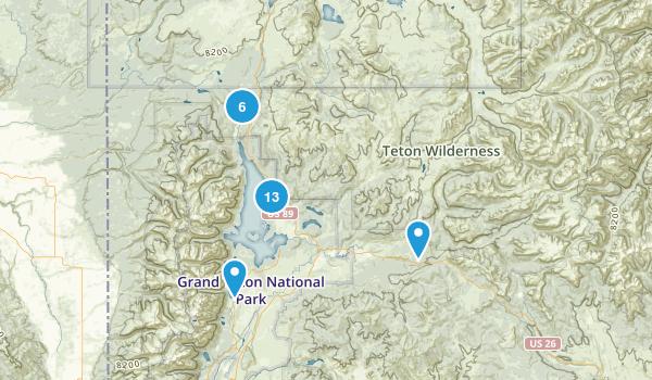 Moran, Wyoming Walking Map