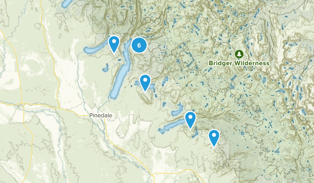 Pinedale, Wyoming Camping Map