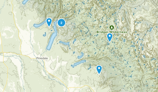 Pinedale, Wyoming Trail Running Map