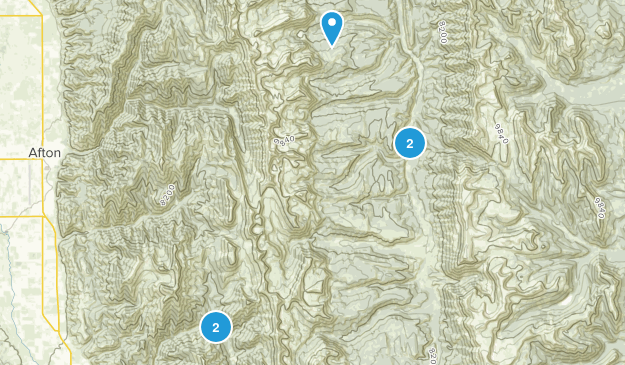 Smoot, Wyoming Forest Map