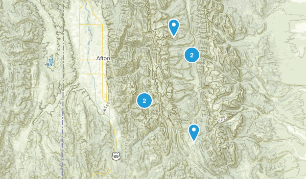 Smoot, Wyoming Hiking Map