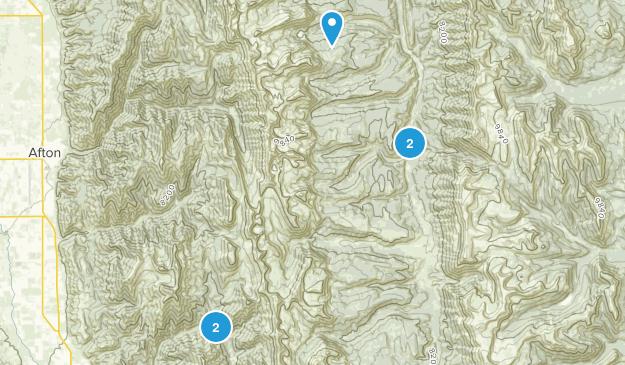 Smoot, Wyoming Lake Map