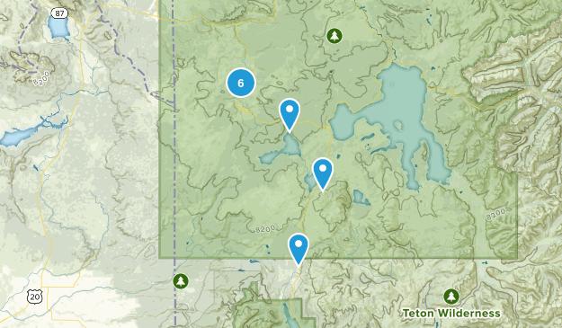 West Yellowstone, Wyoming Hiking Map