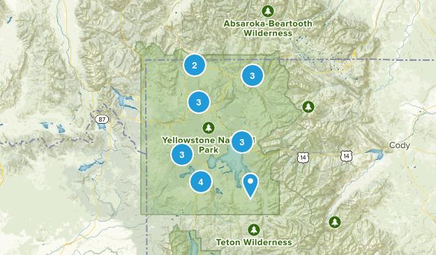 Yellowstone National Park, Wyoming Paddle Sports Map