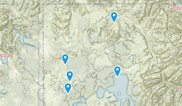 Yellowstone National Park, Wyoming Scenic Driving Map