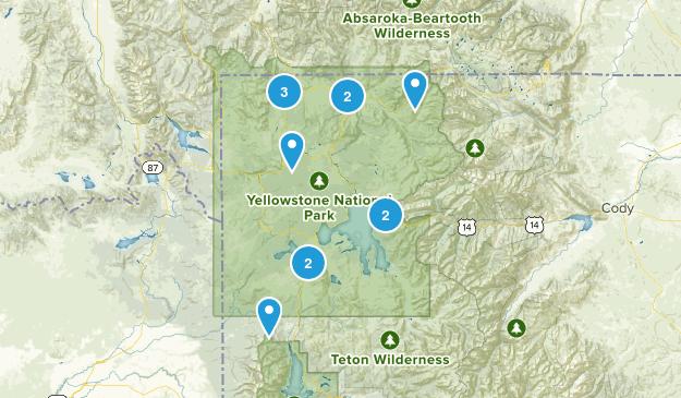 Yellowstone National Park, Wyoming Snowshoeing Map