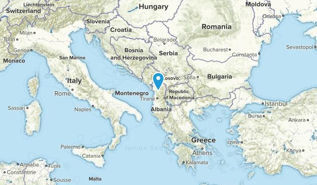 Albania Parks Map