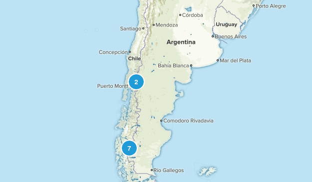 Argentina Backpacking Map