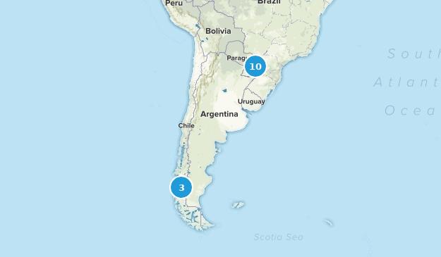 Argentina National Parks Map
