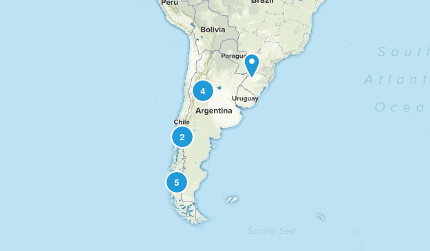 Argentina Nature Trips Map