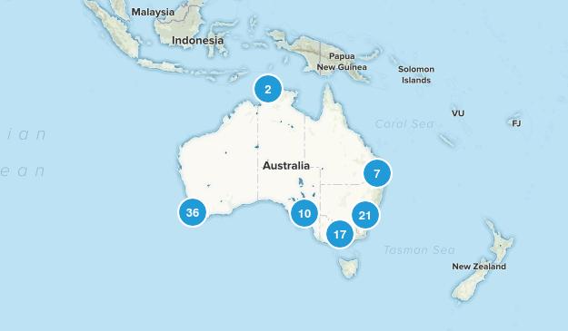 Australia Mountain Biking Map