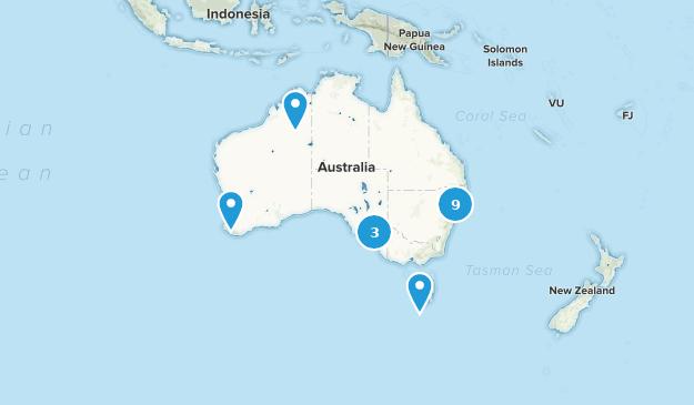 Australia Paddle Sports Map