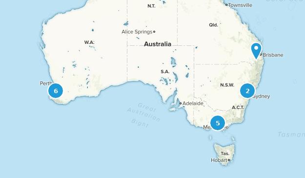 Australia Rails Trails Map