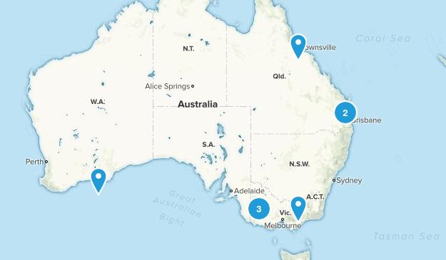 Australia Rock Climbing Map