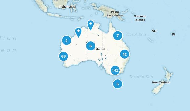 Australia Wild Flowers Map