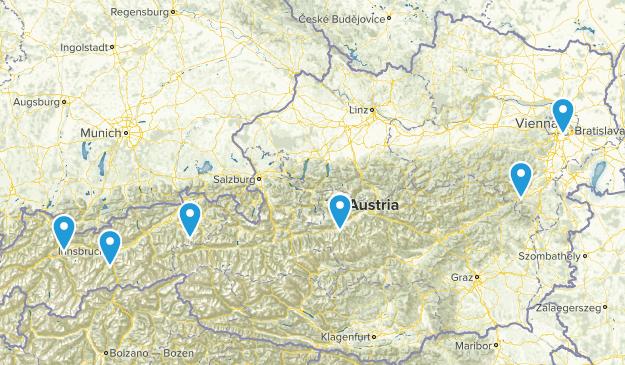 Austria Mountain Biking Map