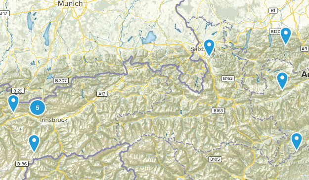 Austria Nature Trips Map