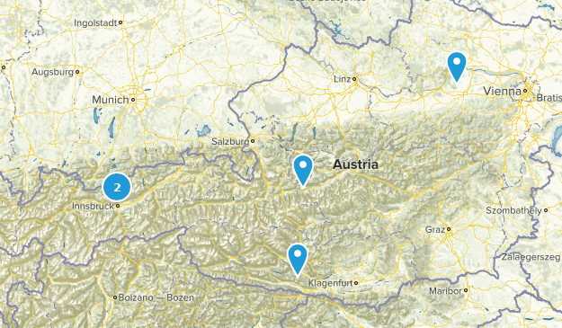 Austria River Map